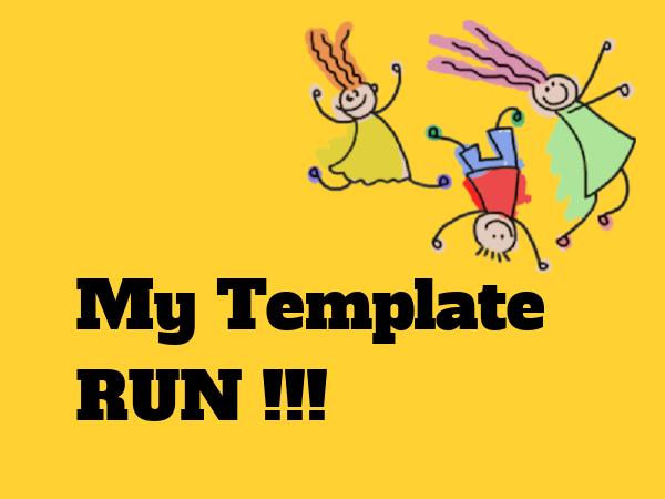 Run own created Blogger template