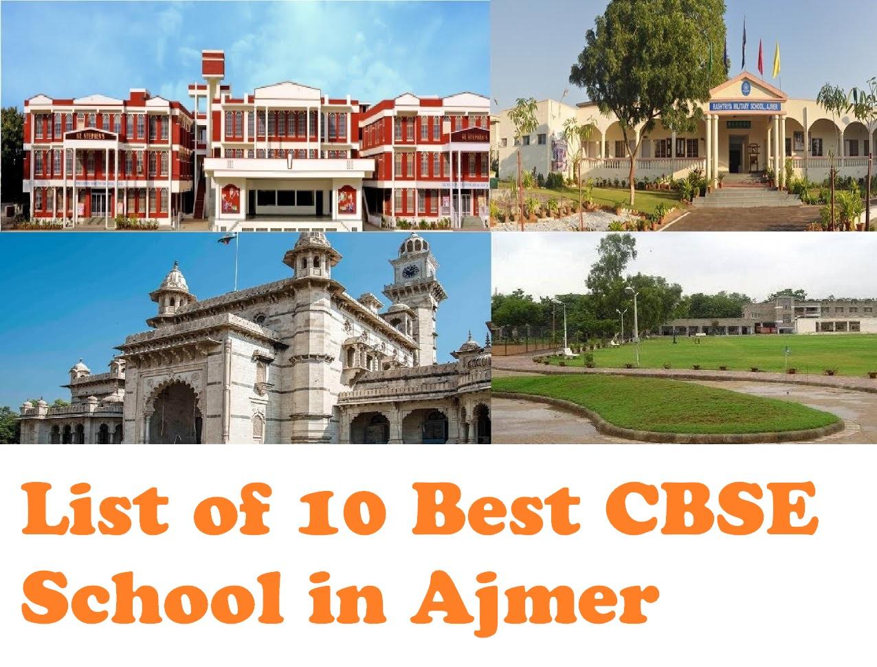 List of 10 Best CBSE Schools in Ajmer, Rajasthan