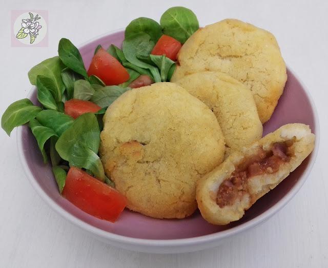Mini Arepas con Relleno Vegetal. Receta Vegana.