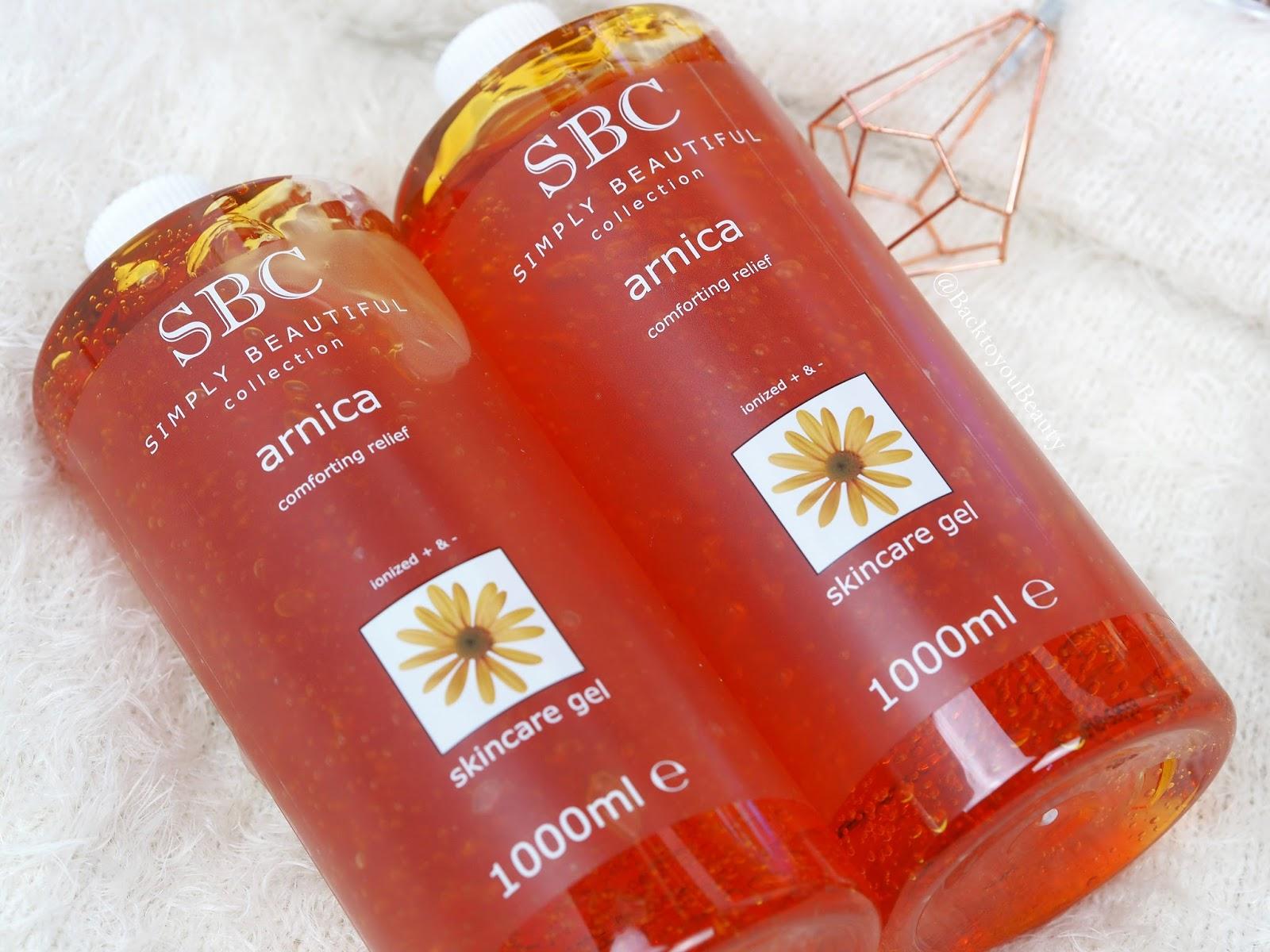 SBC Arnica Skincare Gel 1 litre Duo