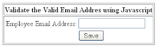 validate email in asp.net using Javascript