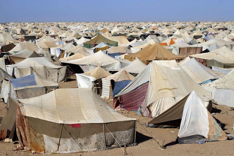 7000 Sahraouis tentent d'entrer au Maroc