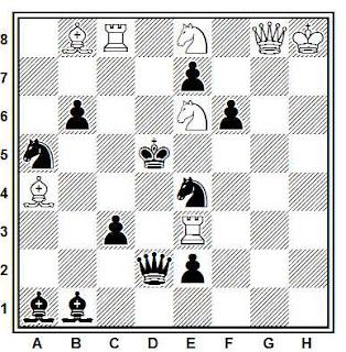 Problema de mate en 2 compuesto por Karl A. K. Larsen (Tijdschrift Nederlandschen Schaakbond 1930)