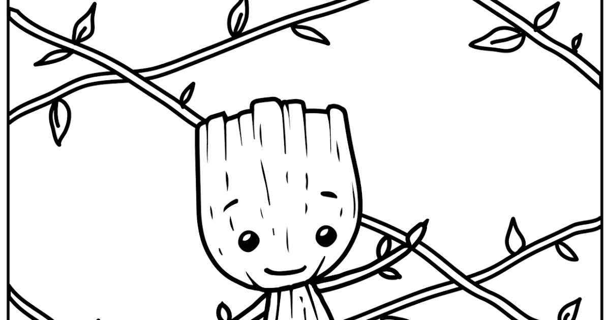 FREE Printable Coloring Page: I'm Baby Groot