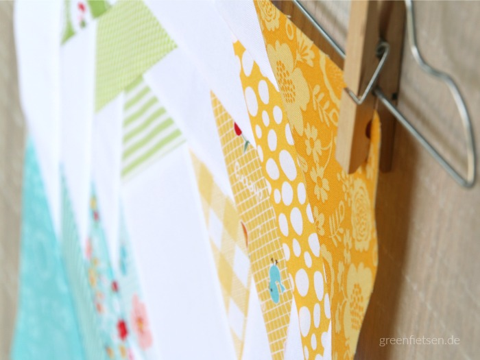 Pineapple Quiltblock - Ich liebe diese Ananas! (6 Köpfe - 12 Blöcke)