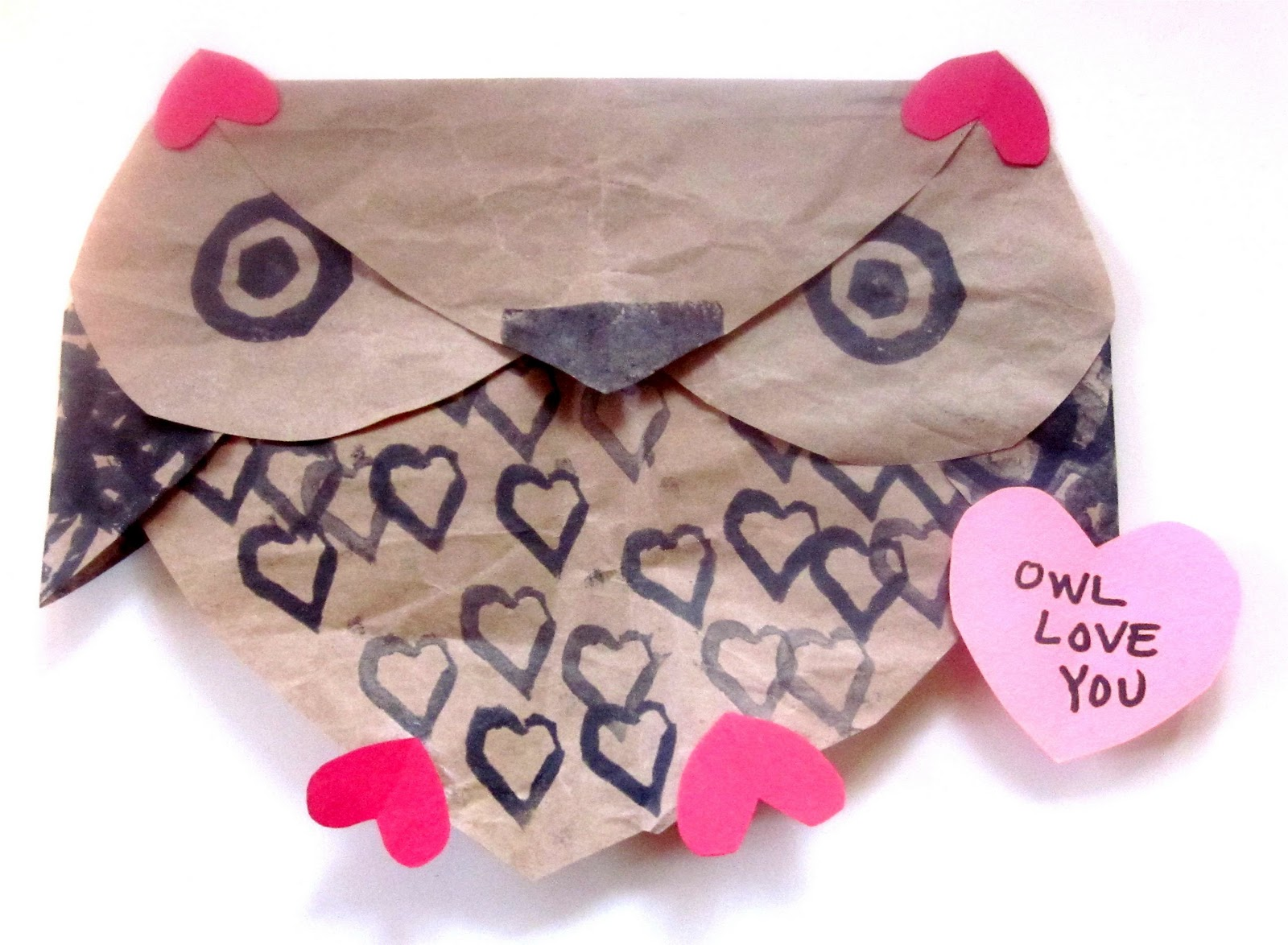 Mama S Little Muse Owl Love You Heart Owl Kids Craft For Valentine S Day