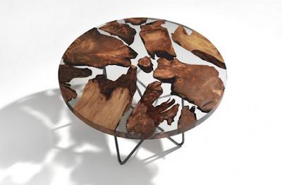 meja resin kayu jati