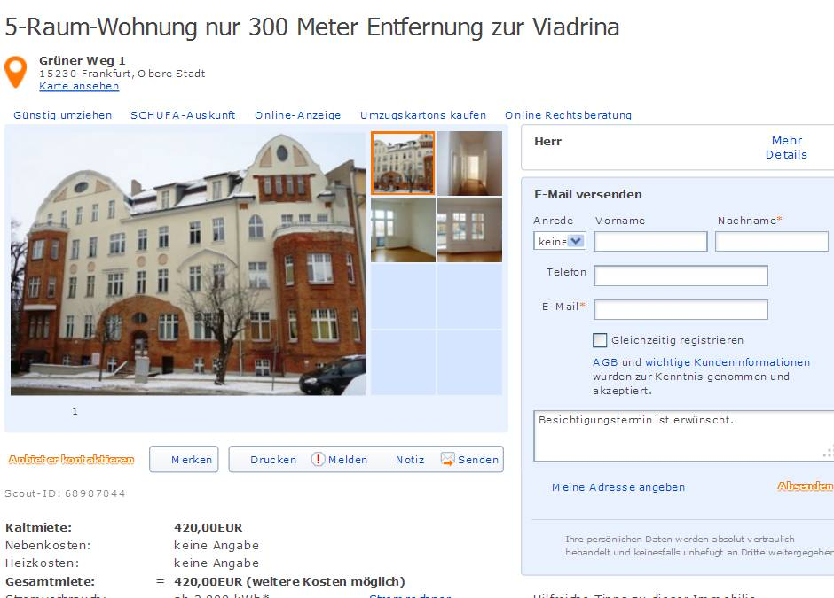 Wohnung Frankfurt Oder Zentrum