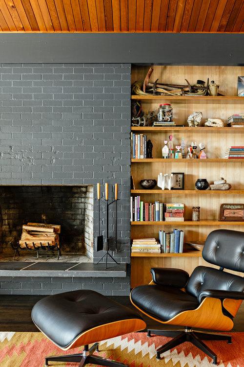 midcentury modern fireplace