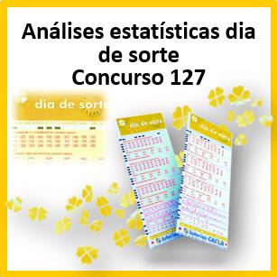 Dia de sorte concurso 127 análises estatísticas