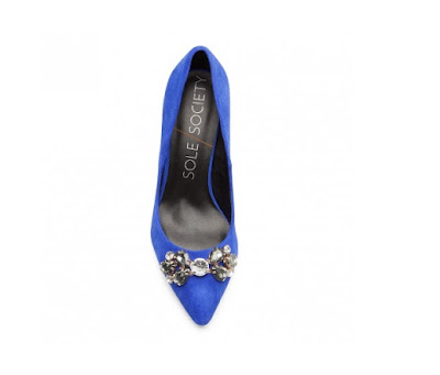 Sole Society blue embellished pumps