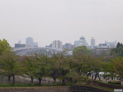 コサギと大阪城