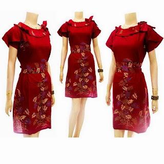 DB Model Baju Dress Batik Modern Terbaru