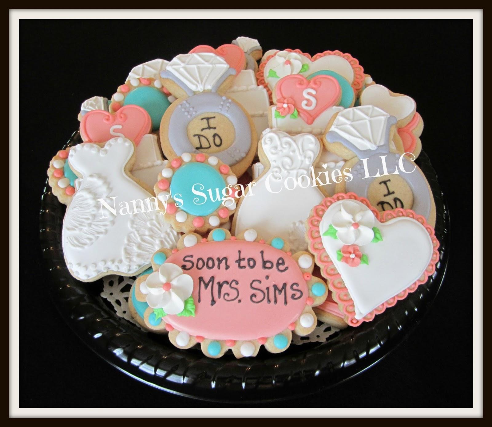 Standard Wedding Gift Amount: Nanny's Sugar Cookies LLC: Bridal Shower Cookie Platter