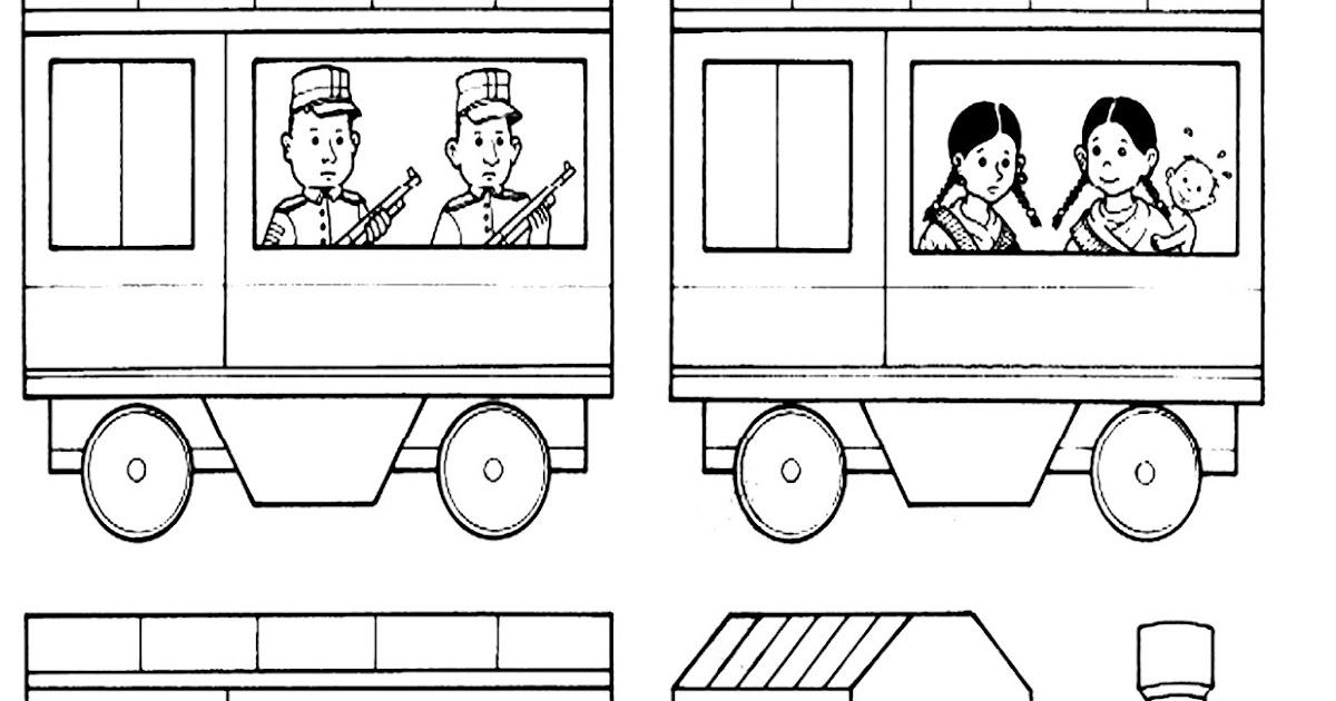 Imagenes De Ferrocarril Para Colorear De Un Ferrocarril