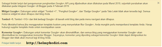 penutupan google+ plus