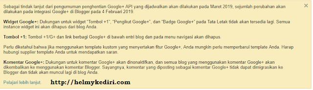 penutupan google+ plus