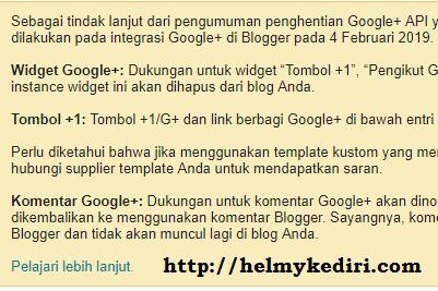 Dampak penutupan google+ plus terhadap blogger