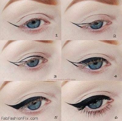 linea de ojo en punta de flecha