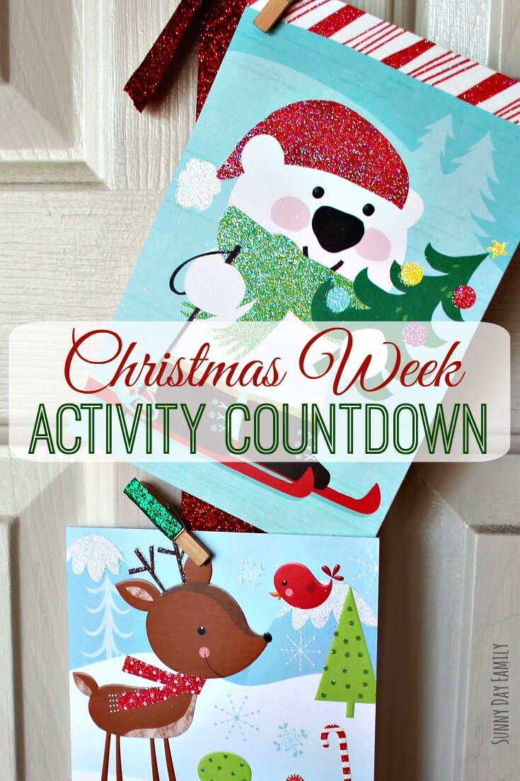 Kids can't wait until Christmas? It just takes a few minutes to put together this cute DIY Christmas Activity Countdown - surprise the kids with a new activity each day until Christmas. Perfect last minute Christmas activity!