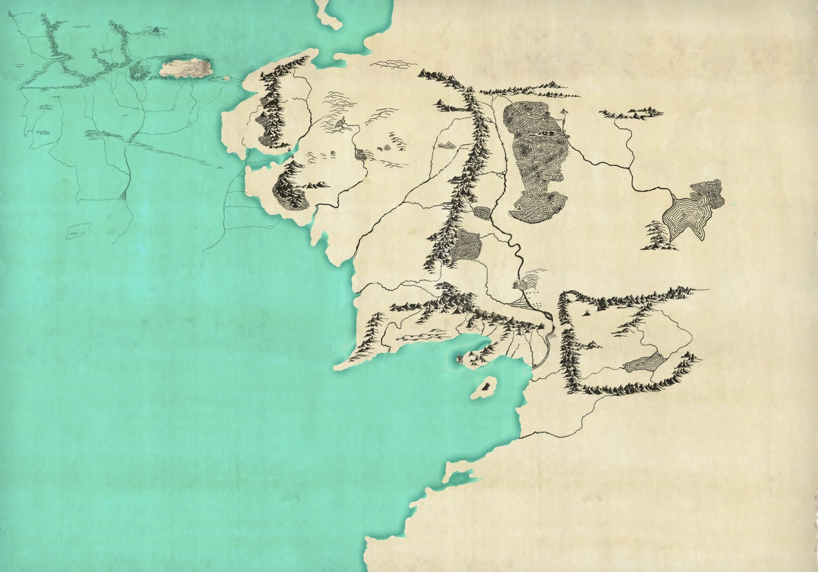 Lalaith's Middle earth Science Pages: A map of Middle earth in the