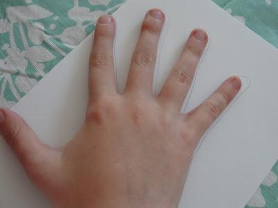 child's hand print