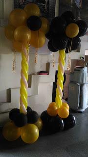 dekorasi balon bentuk standing