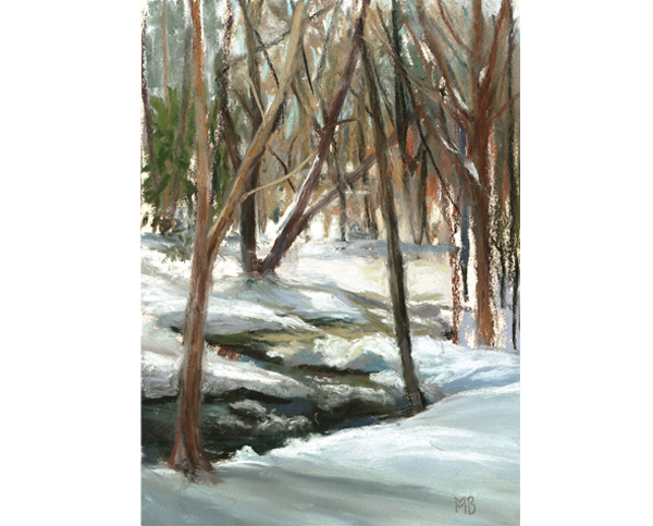 Winter Meditation, 5x7 inches, Private Collection