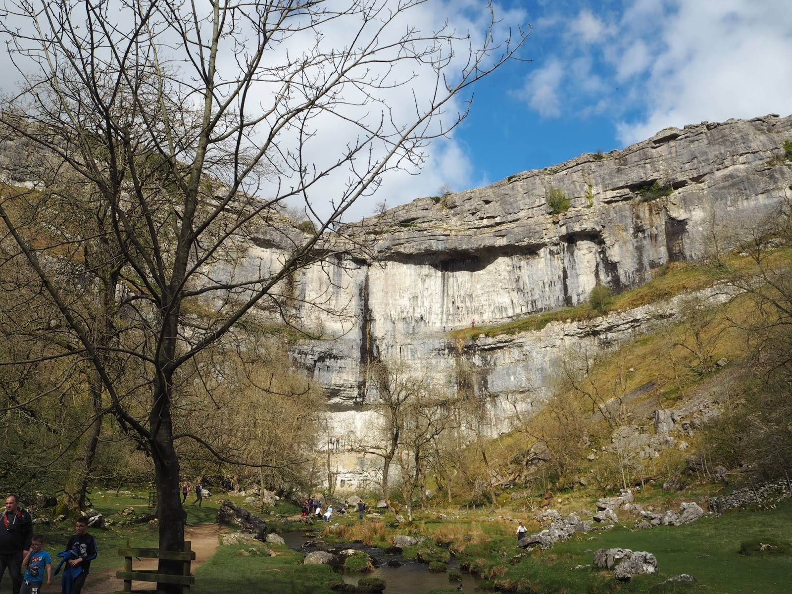 Malham cove on a sunny day