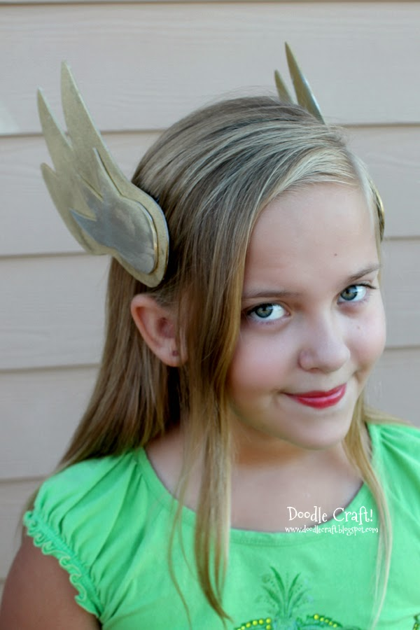 Handmade Thor Valkyrie Odon Winged headband made with craft foam and paint.