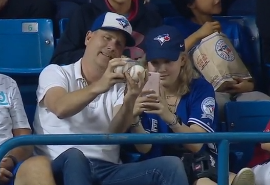 Blue Jays fan catches two home runs