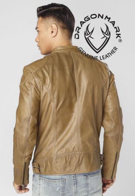 áo khoác da bò nam xịn