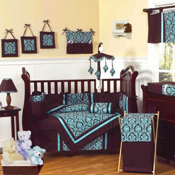 Cuartos de beb s en marr n beige y celeste dormitorios - Habitaciones para bebes nino ...