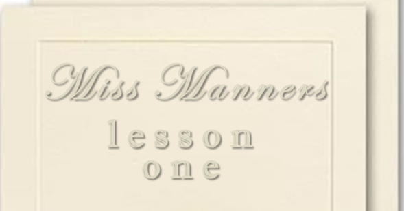 Miss Manners Wedding Etiquette: The Rose Record: Miss Manners: Lesson One