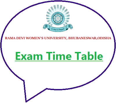 Rama Devi Women's University +3 Exam Date 2020