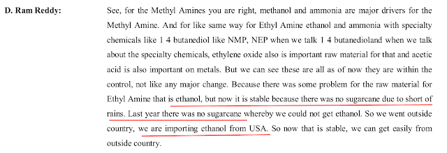Analysis of Balaji Amines Limited, equity research report, a manufacturer of Amines and derivatives, methylamine, ethylamine, DMF etc., Balaji Sarovar Premier, Solapur