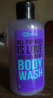 Happily Unmarried Body Wash, Lavender and Vetiver, 200ml Review-NWoBS Blog