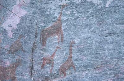 Detalle pinturas rupestres Tsodilo