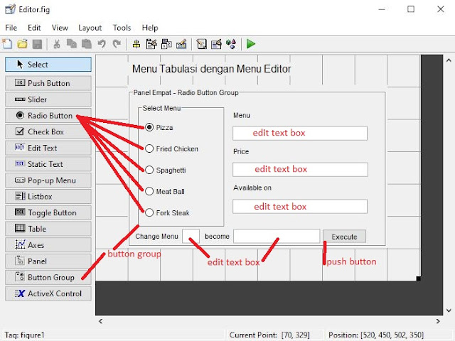 Membuat Menu Radio Button di MATLAB