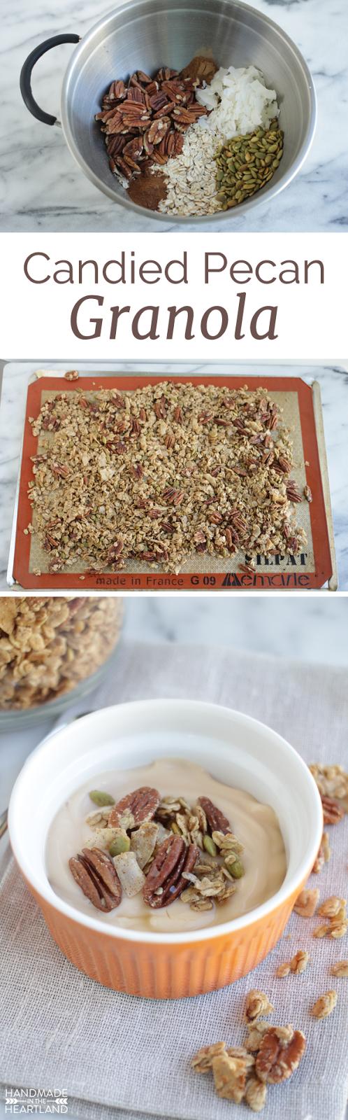 Candied Pecan Granola with Pumpkin Pie Yogurt