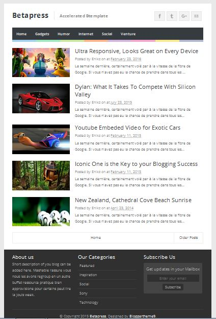 Beta Press Amp Blogger template