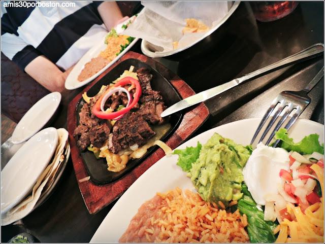 Fajitas de Ternera en el Restaurante El Fenix de Dallas