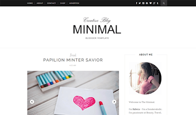 Minimal Clean & Responve Blogger Template