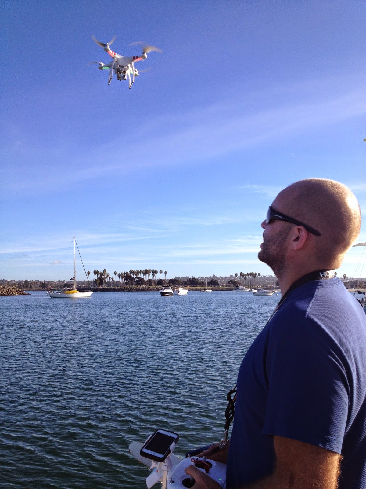 how to fly a drone from a boat