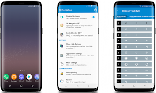 Cara Membuat Tombol Home ( Navigasi Bar ) Samsung S8 di Android Tanpa Root