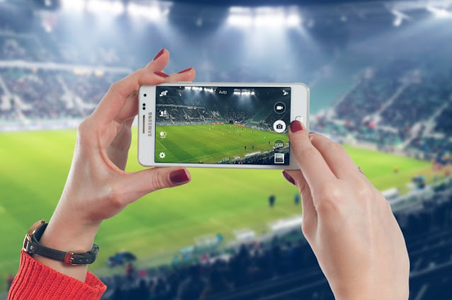 Campo de fútbol en el móvil