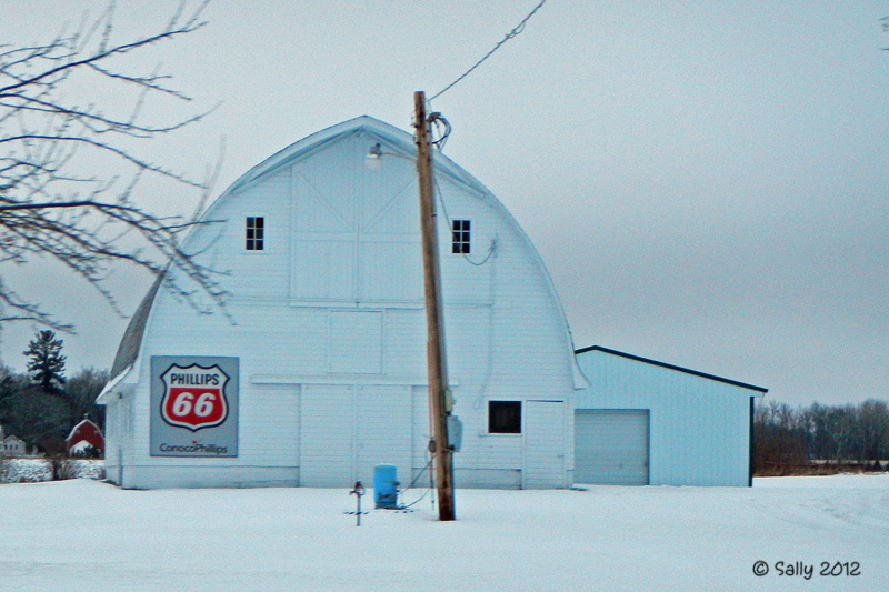 Sally Saw...: Barn Charm - White Barn in the Snow - photo#23