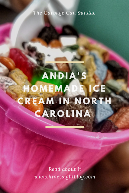 Garbage Can Sundae at Andia's Homemade Ice Cream in Cary, NC
