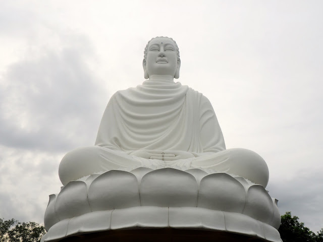 Seated Buddha statue at Long Son pagoda, Nha Trang, Vietnam