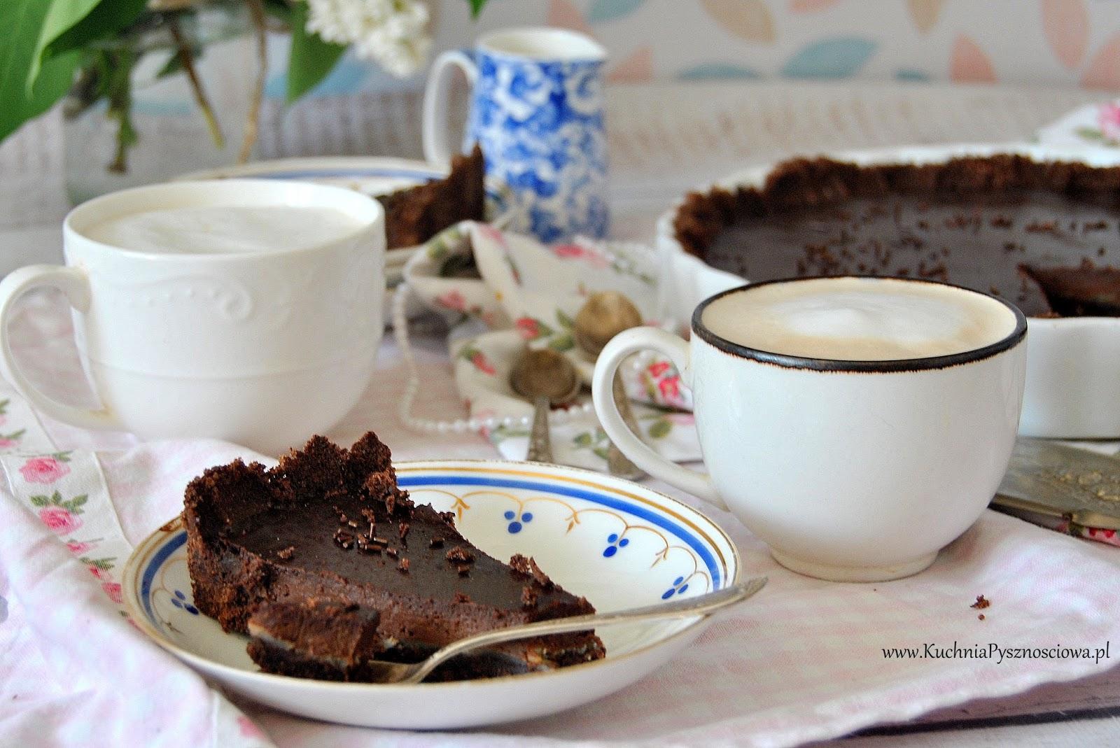 603. Tarta czekoladowa z kozim serem